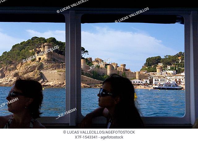 Tossa de Mar, as seen from a ship Costa Brava  Girona province  Catalonia  Spain