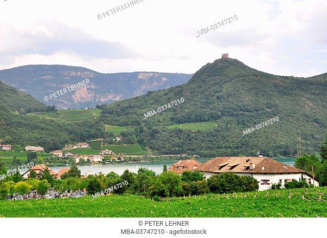 Italy, South Tirol, Kaltern (village), Kalterer lake