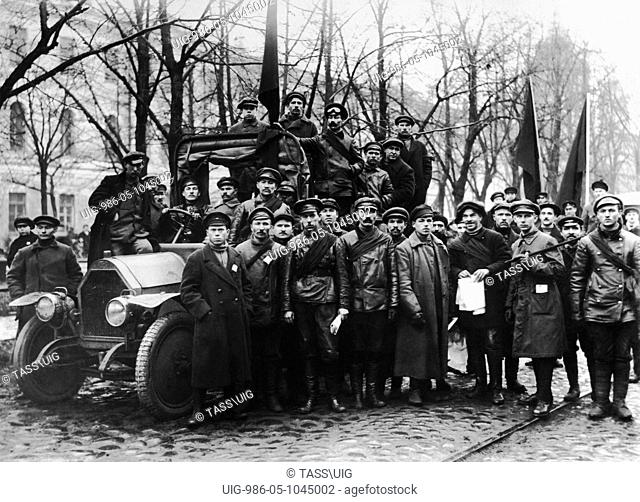 A detachment of the Red Guard, Petrograd in 1917