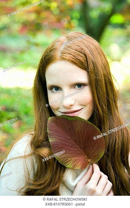 Ginger woman portrait