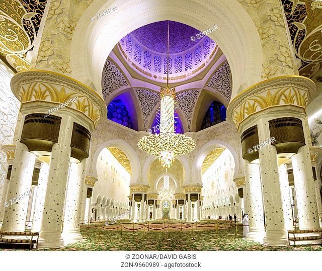 Sheikh Zayed Mosque, Main Prayer room, Abu Dhabi, United Arab Emirates