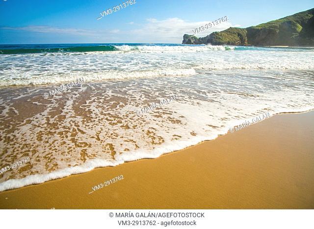 Torimbia nudist beach. Niembro, Asturias, Spain