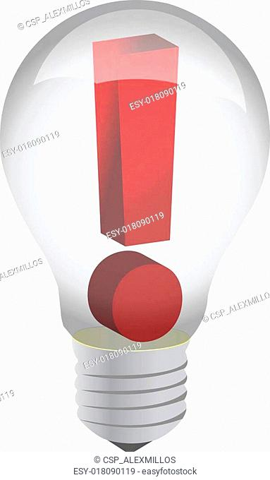 Exclamation in a lightbulb