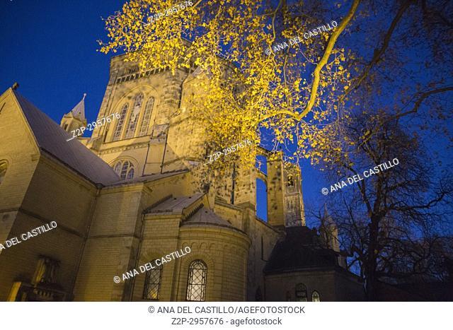 Church in city, St. Gereon Church, Cologne, North Rhine Westphalia, Germany