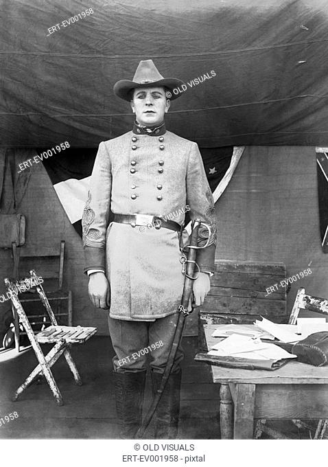 CONFEDERATE OFFICER All persons depicted are not longer living and no estate exists Supplier warranties that there will be no model release issues