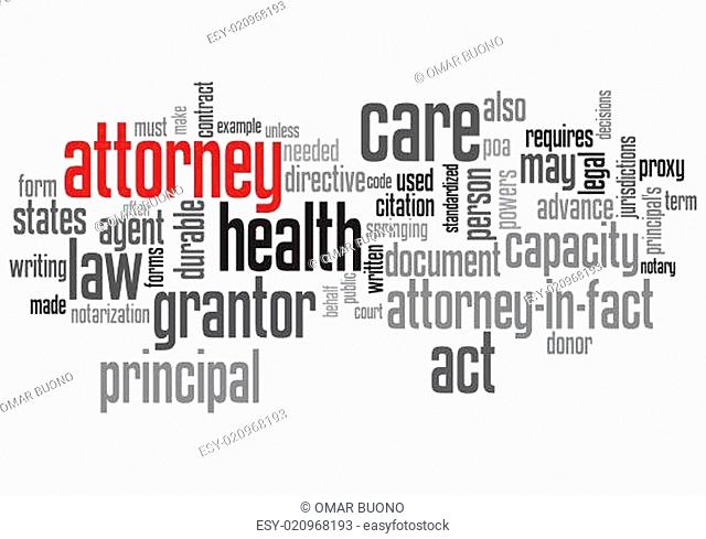 Attorney Concept Design Word Cloud on White Background