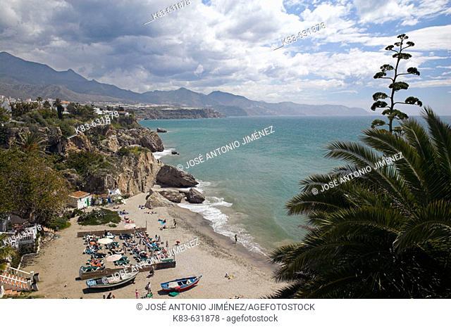 Beach of Calahonda, Nerja. La Axarquia, Malaga province, Andalucia, Spain