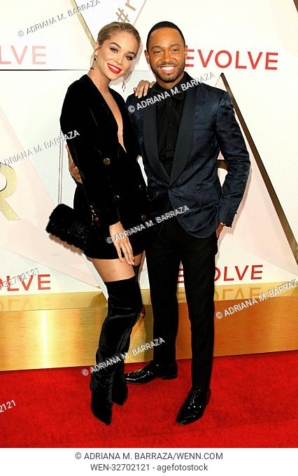#REVOLVE Awards Arrivals held at The Dream Hotel in Hollywood, California. Featuring: Jasmine Sanders, Terrance J Where: Los Angeles, California