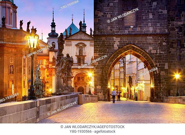 Prague Old Town Bridge Tower, Charles Bridge, Prague, Czech Republic