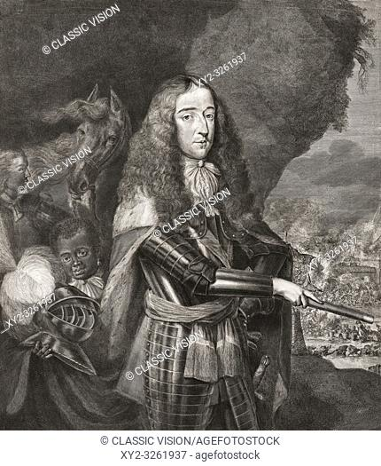 King WIlliam III of England, Ireland and Scotland, 1650-1702. Dutch born , also known as William of Orange, and nicknamed King Billy