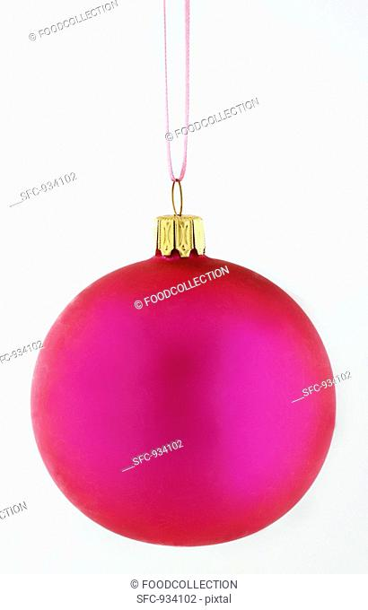 A pink Christmas bauble