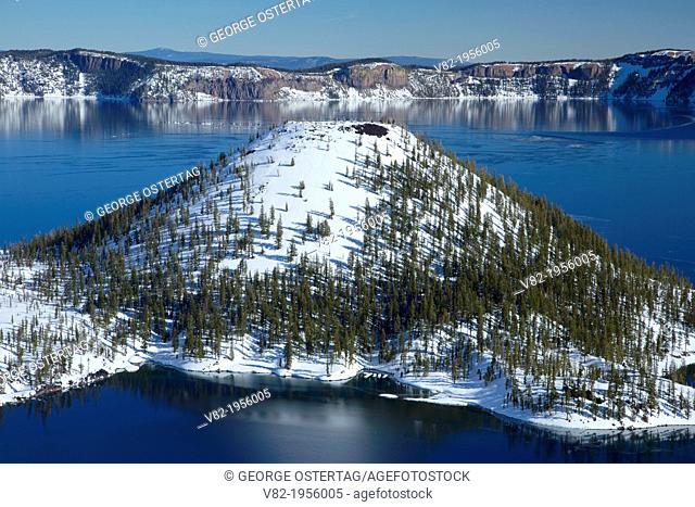 Wizard Island, Crater Lake National Park, Oregon