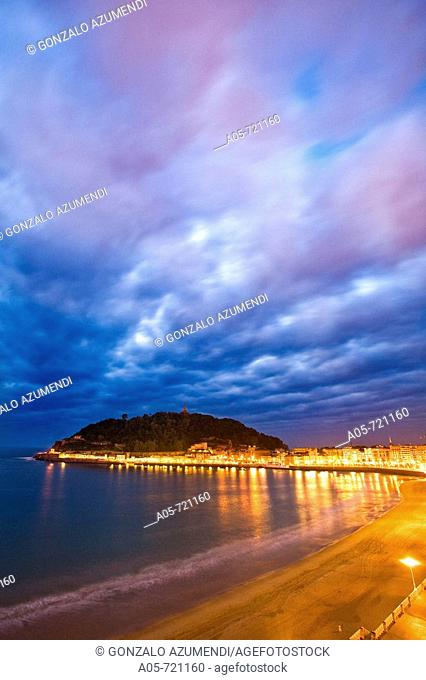 La Concha beach, San Sebastian. Guipuzcoa, Basque Country, Spain