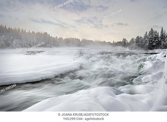 Storforsen, Swedish Lapland, Sweden, Europe