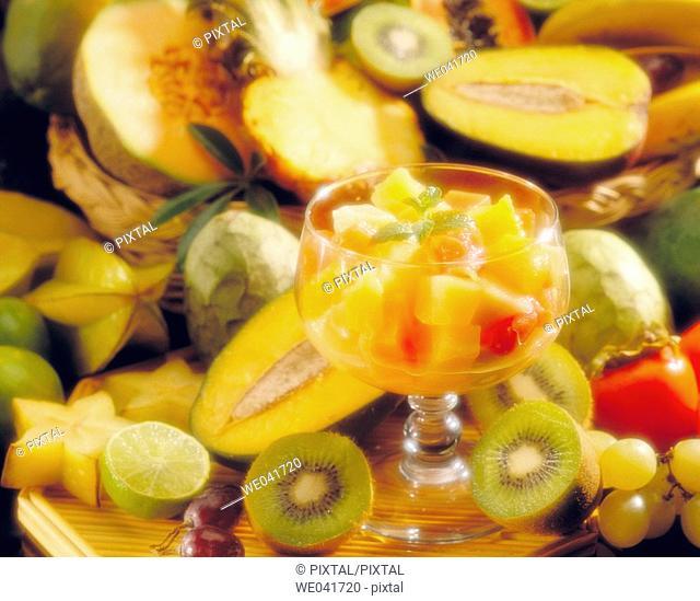 Tropical fruits salad