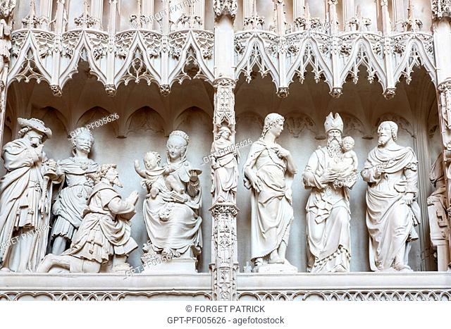 ADORATION OF THE MAGI, THE RENOVATED CHOIR TOWER SEEN FROM THE SOUTH AMBULATORY, NOTRE-DAME CATHEDRAL, CHARTRES (28), FRANCE