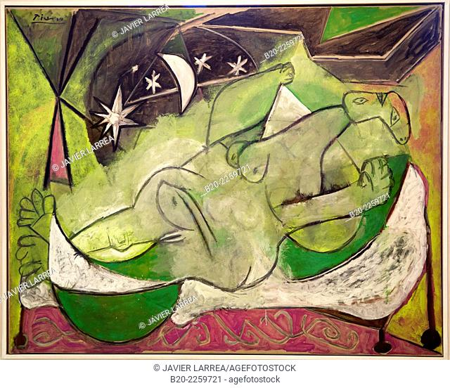 Femme nue couchée, 1936. Pablo Picasso. Centre George Pompidou. Musee National d'Art Moderne. Paris. France