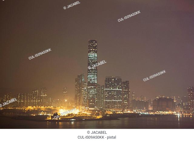View from Central down onto Kowloon, Hong Kong