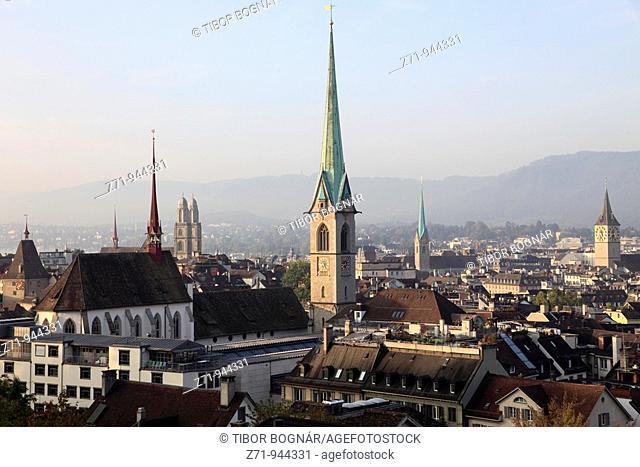 Switzerland, Zurich, skyline, general panoramic view