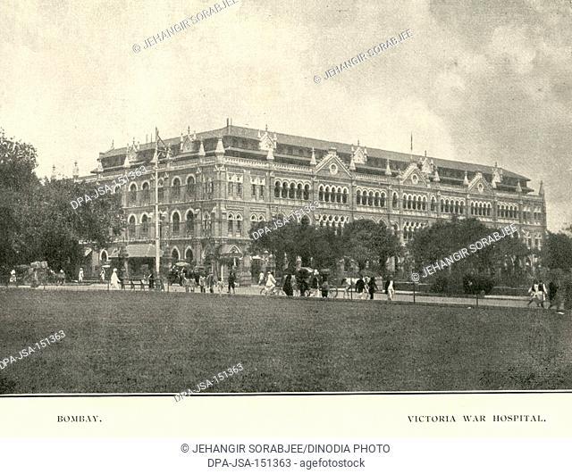 Old vintage 1900s Victoria War Hospital, Bombay, Mumbai, Maharashtra, India, Asia