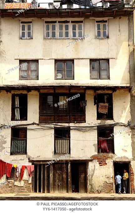 typical nepalese home in kathmandu, nepal