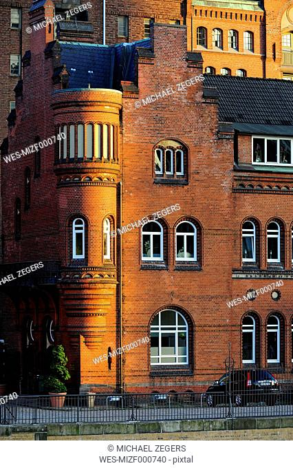 Germany, Hamburg, Speicherstadt, brick building