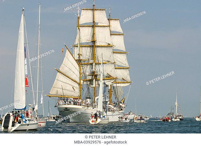 Germany, Schleswig-Holstein, Kiel, Kiel week sail-ship series North Germany, Baltic sea