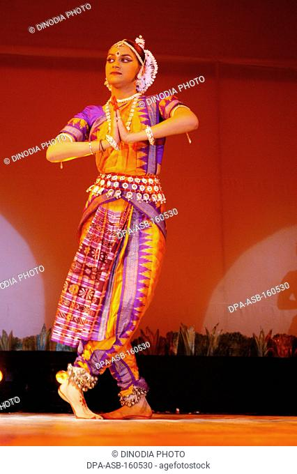 Bollywood Indian actress Hema Malini daughter Ahana Deol performs Odissi classical dance piece called Gauri Tandav at Indian Institute of Technology IIT college...