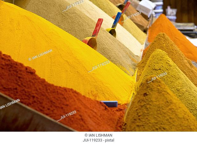 Spices in Morocco market