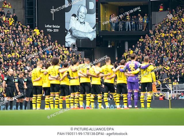 11 May 2019, North Rhine-Westphalia, Dortmund: Soccer: Bundesliga, Borussia Dortmund - Fortuna Düsseldorf, 33rd matchday at Signal Iduna Park