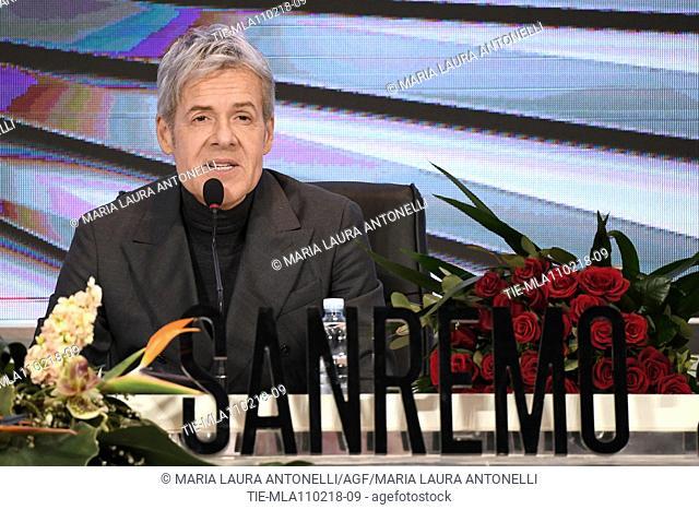 Claudio Baglioni during the closing press conference of 68th Sanremo Music Festival, Sanremo, ITALY-11-02-2018