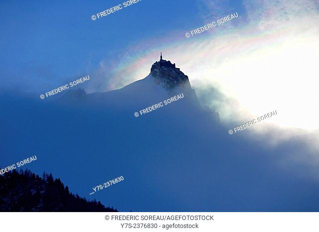 Aiguille du Midi (3842 m) in Mont Blanc massif, Chamonix, Franch Alps, France, Europe