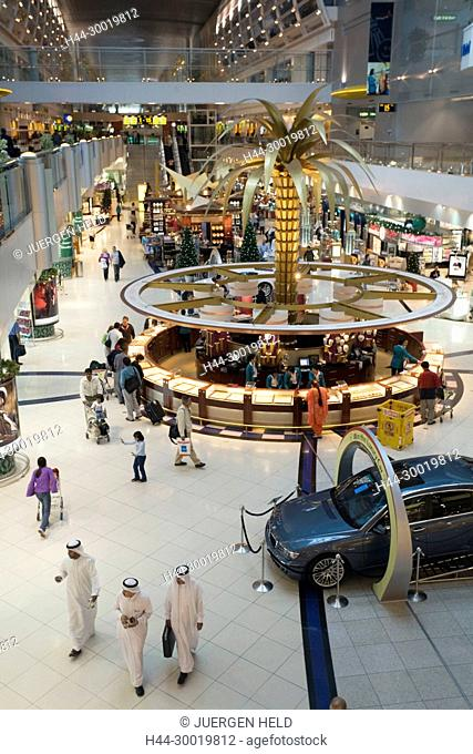 United Arab Emirates, Dubai, Asia, Dubai International Airport, terminal, Sheikh Rashid Terminal, duty free shopping zone