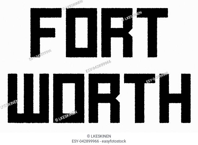 Fort Worth stamp. Typographic sign, stamp or logo