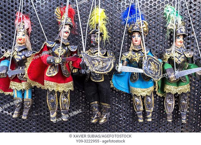 Pupi, Sicilian puppets, Sicily, Italy