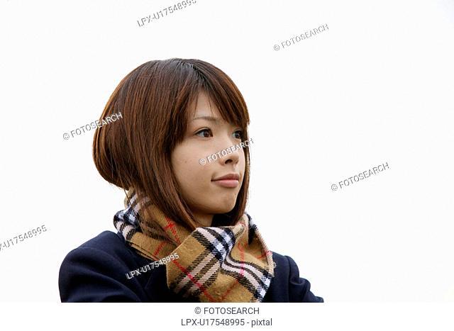 Profile of high school girl