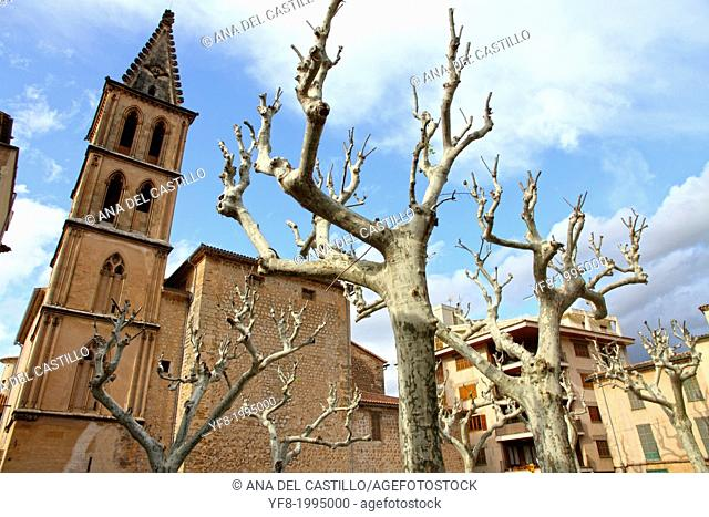 St Bartholomew church in Soller Majorca Balearic islands Spain