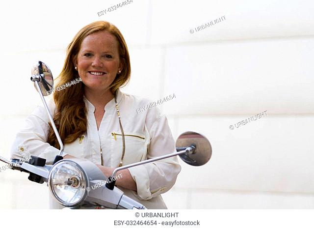 Business woman with red hair