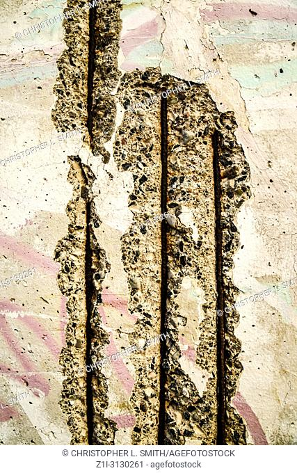 Piece of the wall at the Berlin Wall Museum near Checkpoint Charlie in Berlin, Germany