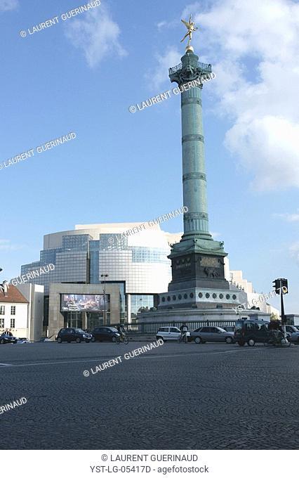 Square, Place de la Bastille, 12ème arrondissement, 75012, Paris, France