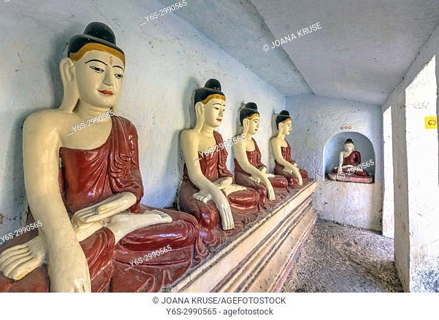 Shwe Ba Taung, Monastery, Pagoda, Myanmar, Asia