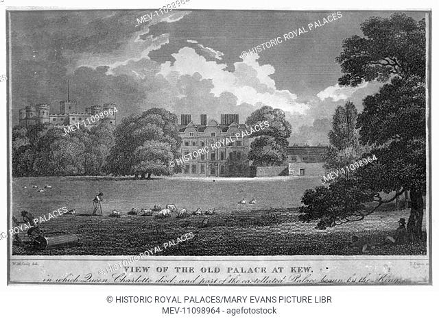 The South Front of Kew Palace with the Castellated Palace beyond