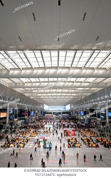 Shanghai Hongqiao Railway Station in Minhang District - largest railway station in Asia