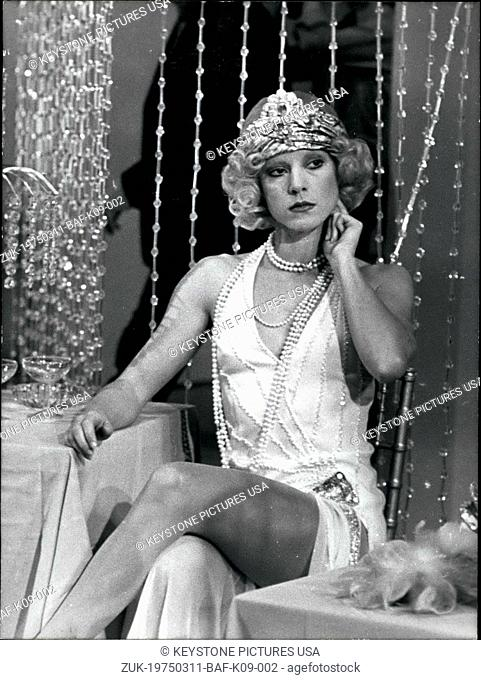 Mar. 11, 1975 - Sylvie Vartan Films Retro Television Show (Credit Image: © Keystone Press Agency/Keystone USA via ZUMAPRESS.com)