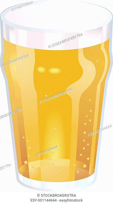 A Nice Pint of Beer Vector Illustration
