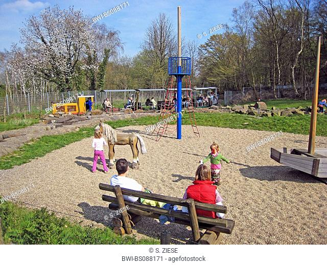 playground on the site of the former coal mine Nachtigall, Germany, North Rhine-Westphalia, Ruhr Area, Witten