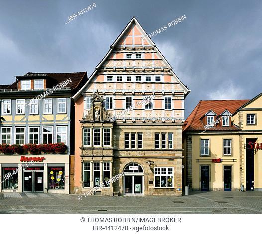 Dempterhaus, mansion built in 1607, Weser Renaissance, Old Town, Hamelin, Lower Saxony, Germany