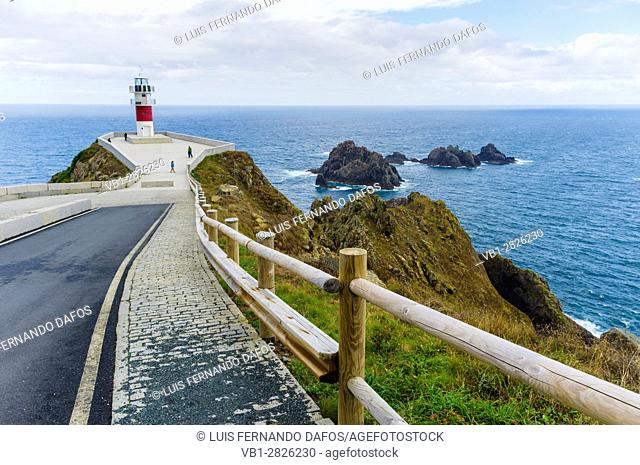 Lighthouse at Cabo Ortegal cape. Coruña province, Galicia, Spain, Europe