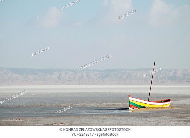 Chott el Jerid lake in Tunisia