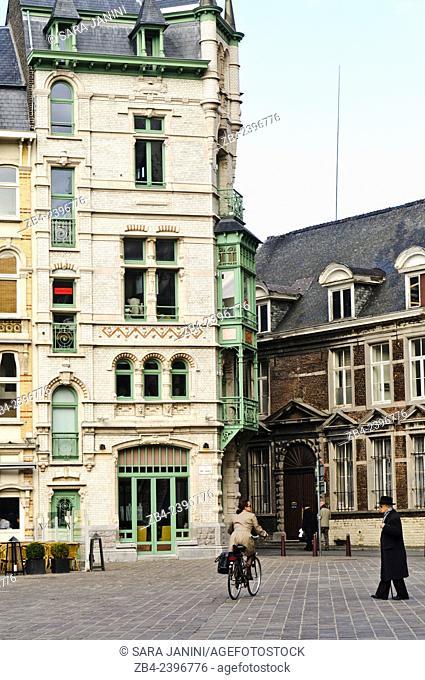 Sint-Baafsplein Square, Ghent, Belgium, Europe